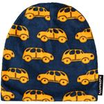 Maxomorra Hat Fleece LITTLE CAR petrol