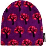 Maxomorra Hat Fleece APPLE TREE lila