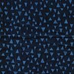 Kokka TRÉFLE-D Dreiecke jeansblau