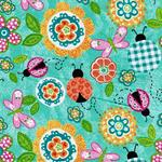 Swafing MY LIL` LADY Blumen Käfer petrol