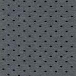 Bündchen mit Punkten grau mel. schwarz