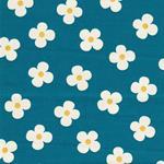 Cosmo Twill Blumen türkis