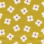Cosmo Twill Blumen gelbgrün