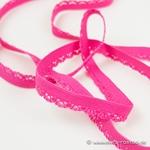 elastisches Zierband Zähnchenrand pink