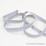 elastisches Zierband Zähnchenrand h`grau