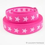 Gürtelgummiband 40 mm STERNE pink rosa