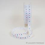 Ripsband Anker und Sterne 10 mm weiß