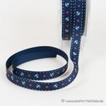 Ripsband Anker und Sterne 10 mm navy