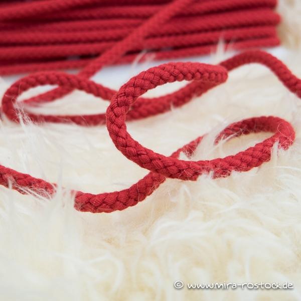 breite Kordel 8 mm rot