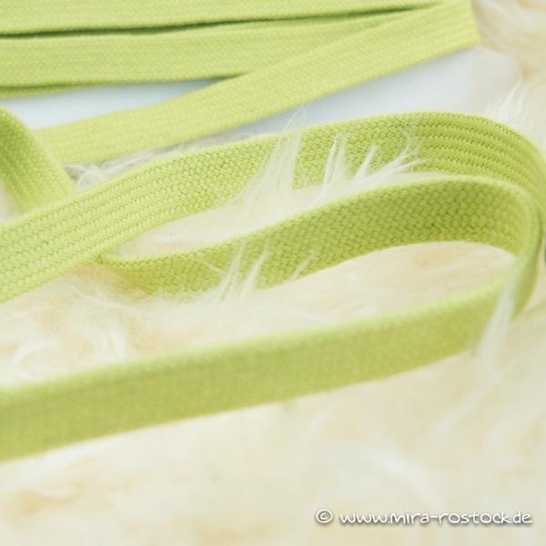 Flechtkordel flach 15 mm apfelgrün