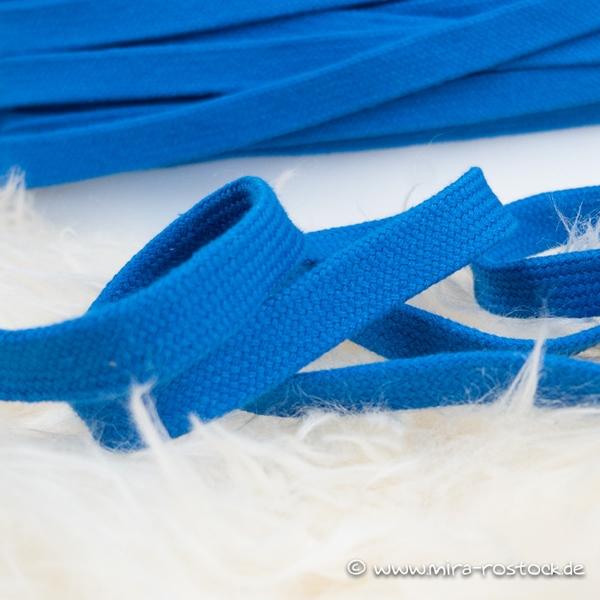 Flechtkordel flach 15 mm royalblau