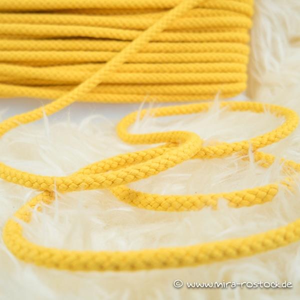 breite Kordel 8 mm gelb