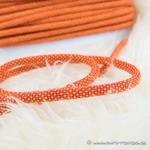 breite Kordel mehrfarbig 8 mm orange rot