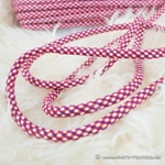 breite Kordel mehrfarbig 8 mm lila pink