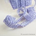 elastische Vichy-Rüsche weiß lila