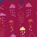Softshell Regenwolken pink