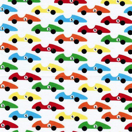 Westfalenstoffe JUNGE LINIE Autos weiß