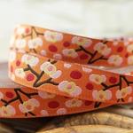 Hamb. Liebe Webband BLOSSOMS orange