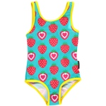 Maxomorra SWIMSUIT STRAWBERRY türkis