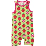 Maxomorra PLAYSUIT SHORT STRAWBERRY grün