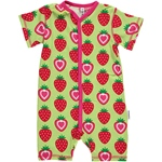 Maxomorra ROMPERSUIT BUTTON STRAWBERRY