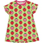 Maxomorra TUNIC A-LINE STRAWBERRY grün