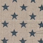 Engl. Dekostoff Leinen STARS navy