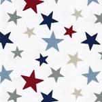 Engl. Dekostoff FUNKY STARS blue