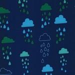 Softshell Regenwolken blau