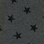 Alpenfleece Sterne grau meliert
