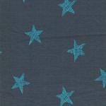 Alpenfleece Sterne grau mint