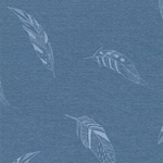 Alpenfleece Federn hellblau