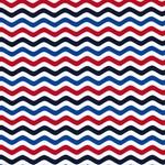 Jersey Wellen rot weiß blau