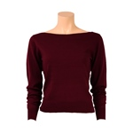 King Louie BOATNECK TOP COTTONCLUB beet
