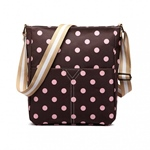 Huiskamergeluk BAG POLKA DOT coffee/pink