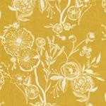 LINE DRAWINGS Popeline Blumen gelb