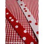 Farbenmix Punkteband rot weiß