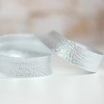 Lurexschrägband silber