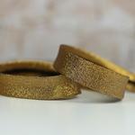 Lurexschrägband dunkles gold