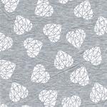 Hilco HEARTBREAK Jersey grau mel. weiß