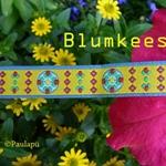 Farbenmix BLUMKEES Webband gelb