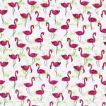 Michael Miller FLAMINGO FLOCK weiß