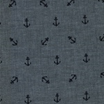 CHAMBRAY BLVD. PRINTS Anchor indigo