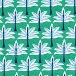 Hilco BEACH PALMS Popeline grün