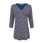 Seasalt TRIEUX TUNIC woodcut bloom galle