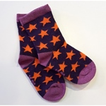 Mala ANKLE SOCK STARS dark violet