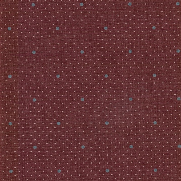 DOTTIE DOT gewebte Baumwolle ginger red