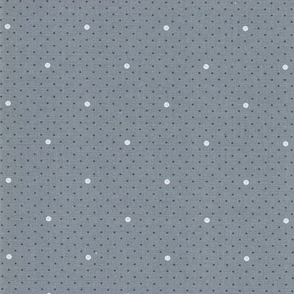 DOTTIE DOT gewebte Baumwolle dusty blue