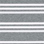 STRIPE Jersey grau weiß