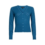 King Louie CARDI V HEART AJOUR blue sea
